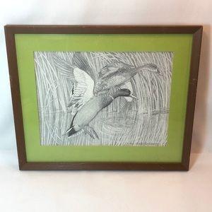 Charles Beckendorf Framed Print - Ducks in Flight